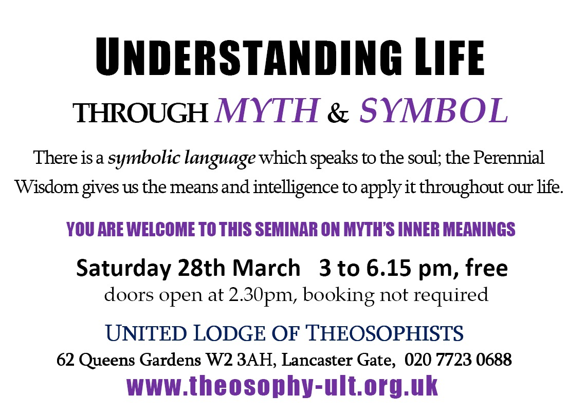 Myth & Symbol Seminar 28th March 2015