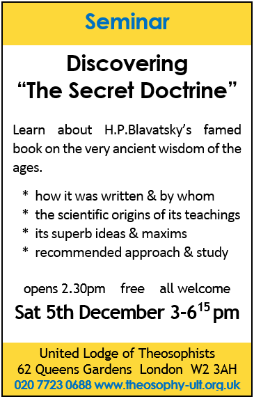 Discovering The Secret Doctrine ad 100 x 63 mm