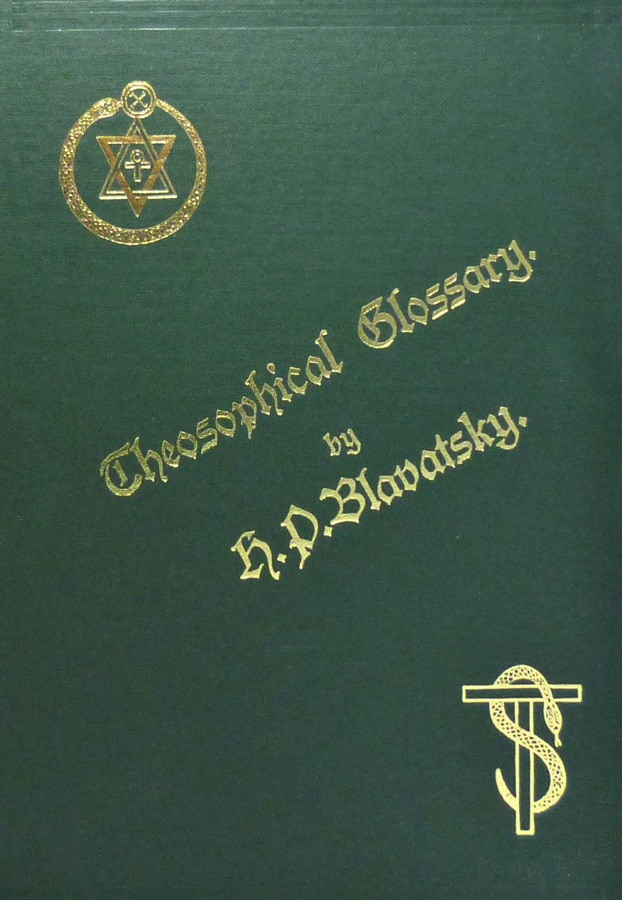 The Theosophical Glossary by H.P.Blavatsky