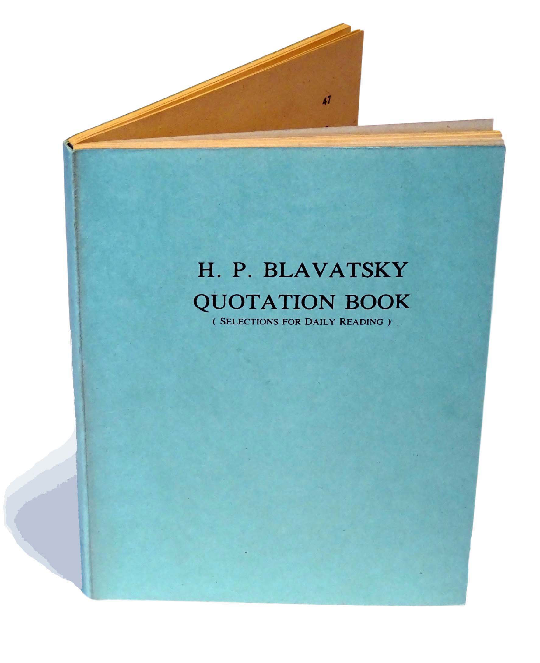 H.P.Blavatsky Book of Daily Quotations